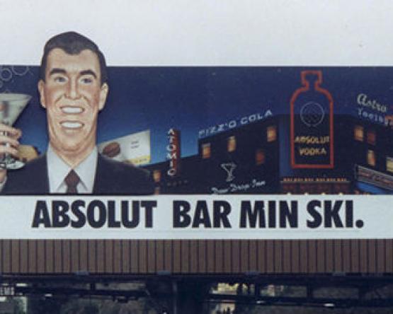 Barminski billboard on Sunset Strip, 1998 - 2000